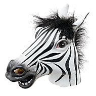 leuke Halloween masker realistische latex paard hoofd / interessante grappige partij maskerademaskers siliconen gezicht zebra masker