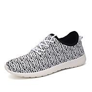 baratos Sapatos Femininos-Mulheres Sapatos Tule Primavera / Outono Conforto Sem Salto Vermelho / Azul / Coral