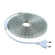 6W Faixas de Luzes LED Flexíveis 20 lm AC 220-240 V 5 m 300 leds Branco Quente Branco Vermelho Azul Verde