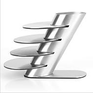 Edelstahl-Metall-coaster Schalenbecher Pads Geschirr Pad Platzdeckchen Tasse Schüssel Getränke Untersetzer 4pcs / lot