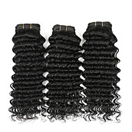 Emberi haj Indiai haj Az emberi haj sző Göndör Göndör fürtök Póthajak 4 darab Természetes szín