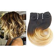 Омбре Индийские волосы Волнистый 3 месяца 3 предмета волосы ткет