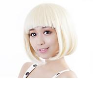 Χαμηλού Κόστους Neitsi®-Συνθετικές Περούκες Ίσιο Ξανθό Κούρεμα καρέ Συνθετικά μαλλιά Ξανθό Περούκα Γυναικεία Χωρίς κάλυμμα Ξανθό