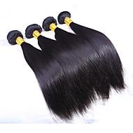 Echt haar Indiaas haar Menselijk haar weeft Recht Haarextensions 3-delig Natuurlijke Kleur