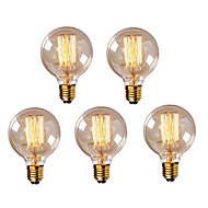 5pcs G95 E27 40W Vintage Edison Bulb Retro Lamp Incandescent Light Bulb    (220-240V)