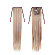 Long Straight Tail 22inch 55cm 100g #18/613 Mixed Color Synthetic  Drawstring Ponytail Ponytails Hair Extension