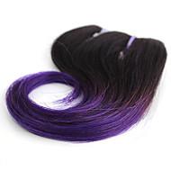 Gerçek Saç Düz Brezilya Saçı İnsan saç örgüleri Dalgalı Saç uzatma 1 Parça T1B / Mor / Mavi