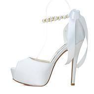 baratos Sapatos Femininos-Mulheres Sapatos Primavera / Verão Salto Agulha / Plataforma Pérolas Vermelho / Rosa / Azul / Casamento / Festas & Noite
