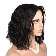 Ženy Paruky z přírodních vlasů Přírodní vlasy Se síťkou Se síťovanou přední částí Krajka vpředu 130% Hustota Přírodní vlny Paruka