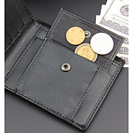 Men Bags All Seasons PU Linen Wallet for Casual Black