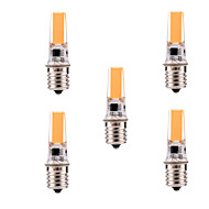 billige Bi-pin lamper med LED-YWXLIGHT® 5pcs 400-500 lm E17 Sporlamper T 1 leds COB Mulighet for demping Dekorativ Varm hvit Kjølig hvit AC 110-130V
