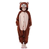 Kigurumi plišana pidžama Majmun Onesie pidžama Kostim Flis Braon Cosplay Za Dječji Zivotinja Odjeća Za Apavanje Crtani film Noć vještica
