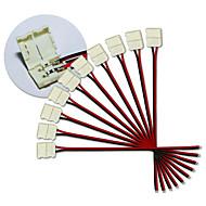 5050 단일 색상 스트립을 주도하기위한 KWB-10mm의 2 핀의 10PCS는 스트립 커넥터를 주도