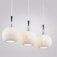 3 Heads E26/E27 Pendant Lights Modern/Contemporary Dining Room/Kitchen Metal