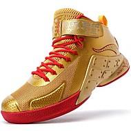 baratos Sapatos Masculinos-Homens Pele Primavera / Outono Conforto Tênis Basquete Prata / Dourado
