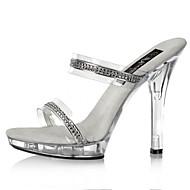 女性-ウェディング カジュアル パーティー-ポリ塩化ビニール-スティレットヒール-ベーシックサンダル クラブシューズ 靴を点灯-ヒール-クリア