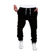 povoljno Under $13.99-Muškarci Aktivan Veći konfekcijski brojevi Pamuk Sportske hlače Hlače Jednobojni / Vikend