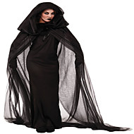 cheap Halloween & Carnival Costumes-Witch Cosplay Costume Party Costume Women's Halloween Festival / Holiday Halloween Costumes Black Solid Colored Lace