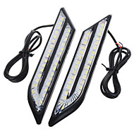 cheap Car Lights-exLED 2pcs Car Light Bulbs 24 W SMD 5630 500 lm 66 LED Daytime Running Light For