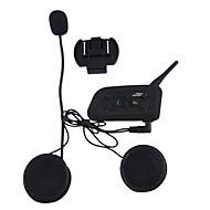 Vnetphone V6 1Pcs 1200 mètres de moto casque bluetooth interphone pour répondre téléphone écouter de la musique et de parler librement