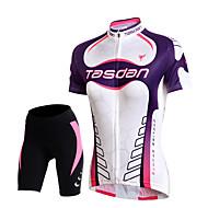 ieftine TASDAN®-TASDAN Pentru femei Manșon scurt Jerseu Cycling cu Pantaloni Scurți Bicicletă Pantaloni scurți Pantaloni Scurți Padded Jerseu Set de