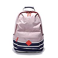 billige Skoletasker-Dame / Unisex Tasker Lærred / Nylon Skoletaske Ensfarvet Lys pink / Lysegrå / Fuchsia