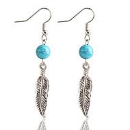 Nieuwe bohemen stijl eenvoudige ronde turquoise kralen laat oorbellen voor vrouwen oorbellen vintage mode oorbel