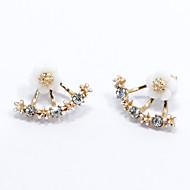 Dame Stangøreringe Mode minimalistisk stil kostume smykker Sølv Blomstformet Daisy Smykker Til Bryllup Fest Daglig Afslappet