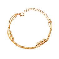 Pulseiras Pulseiras em Correntes e Ligações Liga Formato Circular Fashion Jóias Dom Dourado,1pç