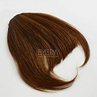 halpa -ihana ihmisen bang hiukset leikkeen otsatukka hapsut laajennuksia 30g / kpl ihmisen luonnollinen hiukset ilmainen osa Bang 2 väriä