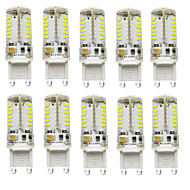 10PCS G9 57SMD 3014 2.5W 200-250LM Warm White/White /Natural White DC/AC10-20V LED Bi-pin
