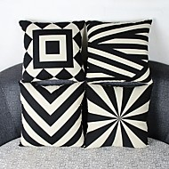 cheap Throw Pillows-pcs Cotton/Linen Pillow Cover, Geometric Casual