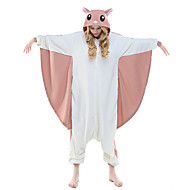 cheap -Adults' Kigurumi Pajamas Squirrel Flying Squirrel Onesie Pajamas Polar Fleece Pink Cosplay For Men and Women Animal Sleepwear Cartoon Festival / Holiday Costumes