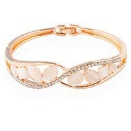 Dame Tennisarmbånd Mode Legering Cirkelformet Rose Guld Smykker For Bryllup 1 Stk.