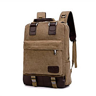 Men Bags Canvas Laptop Bag Zipper for Casual Summer Black Khaki