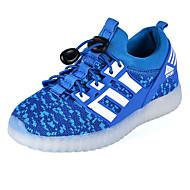 tanie Obuwie chłopięce-Dla chłopców Obuwie Tkanina Wiosna / Jesień Wygoda / Świecące buty Adidasy LED na Zielony / Królewski błękit / Czerwony