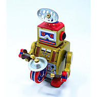 Gold On The Chain Clockwork Tin Toy Robots