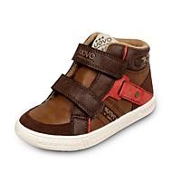 baratos Sapatos de Menino-Para Meninos-Tênis-Conforto-Rasteiro-Marrom-Camurça Couro Ecológico-Casual