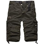 Muškarci Vintage Vojni Širok kroj Kratke hlače Hlače Jednobojni