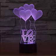 ljubavni dodir osvjetljenje 3d vođena noćna svjetlost 7colorful dekoracija atmosfera svjetiljka novost rasvjetno svjetlo