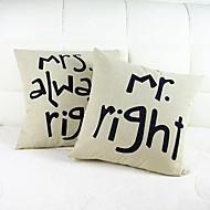 tanie Zestawy poduszki-szt Cotton / Linen Pokrywa Pillow, Słowa i cytaty Tekst Na co dzień