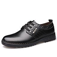 גברים נעליים עור אביב קיץ סתיו חורף מגפיים אופנתיים נוחות נעלי אוקספורד שרוכים עבור קזו'אל מסיבה וערב שחור חום