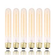billige Glødelampe-GMY® 6pcs 60W E26 T30 2300 K Glødende Vintage Edison lyspære AC 110V AC 110-130V AC 220-240V V