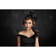 tyl lněná peří čistá fascinátory hlavice klasický ženský styl