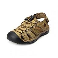 Muškarci Cipele Koža Ljeto Sandale za Kauzalni Braon Deva Žutomrk