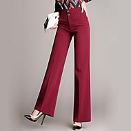 Mulheres Calças Moda de Rua Social Algodão Micro-Elástica Mulheres