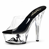 15cm  Summer / Fall sexy Crystal Heels Transparent / Slippers Party & Evening / Casual Stiletto Heel Crystal /  / Crystal Heel