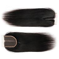 Indiai haj 100% kézi csomózású Egyenes Ingyenes rész / Közel rész / 3. rész Svájci csipke Emberi haj