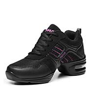 billige Dansesneakers-Dame Dansesko / Moderne sko Kunstlær / Tekstil Støvler / Joggesko Flat hæl Kan ikke spesialtilpasses Dansesko Rosa / Gylden / Trening