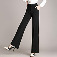 Dámské Větší velikosti Široké nohavice Provozovna Kalhoty Jednobarevné High Rise